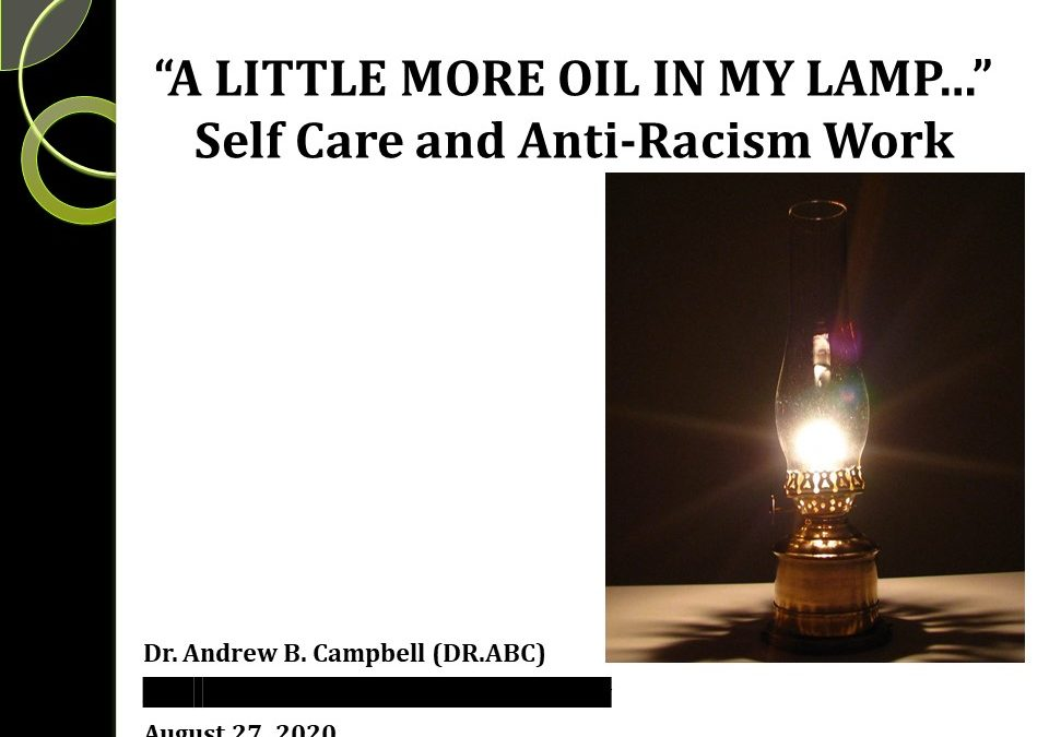 A little more oil in my lamp